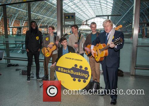 #BackBusking photocall with Mayor of London Boris Johnson