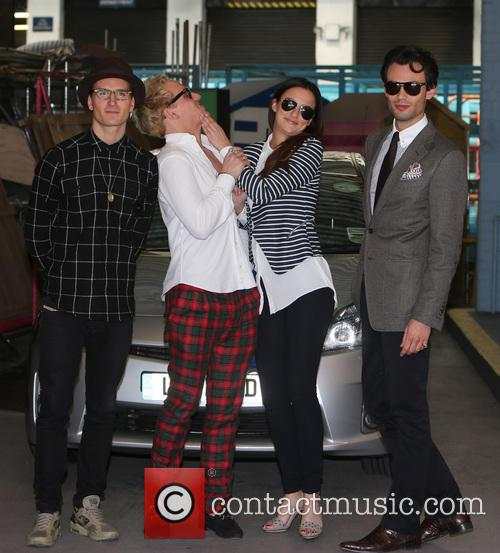 Lucy Watson, Jamie Laing, Mark-Francis Vandelli and Ollie Proudlock 9