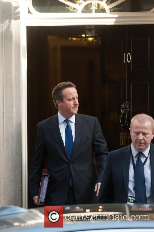 Prime Minister David Cameron leaving 10 Downing Street