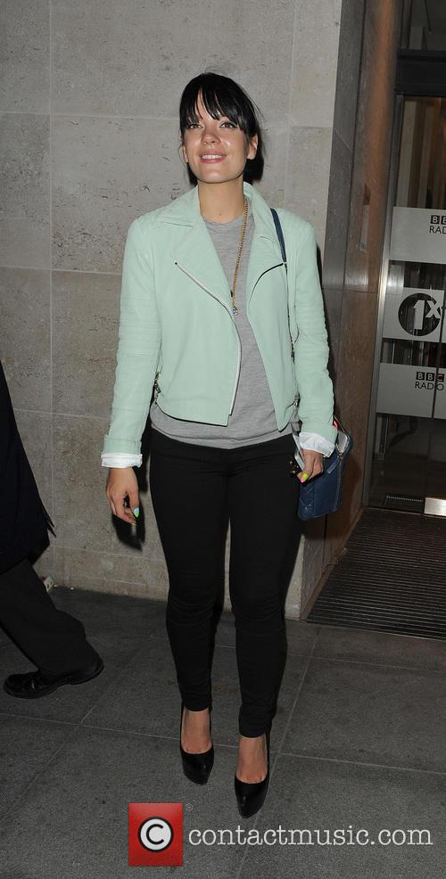 Lily Allen leaves the Radio 1 studios, and heads stright to Firehouse Club