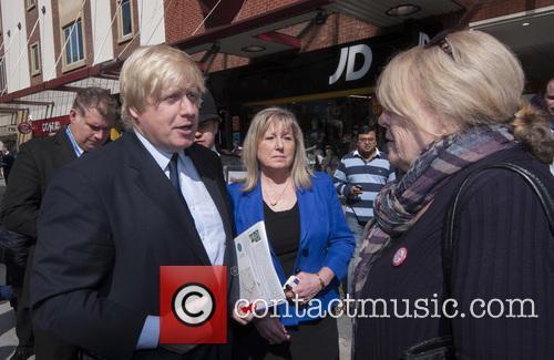 London Mayor Boris Johnson visits Harrow