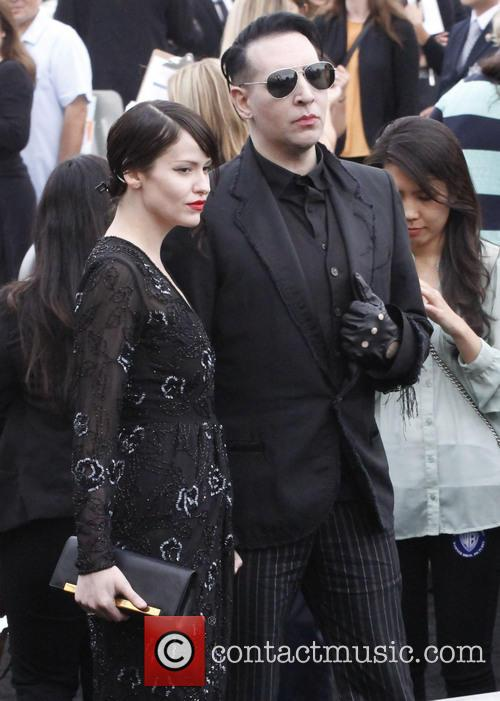Lindsay Usich and Marilyn Manson 1