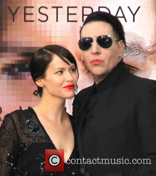 Lindsay Usich and Marilyn Manson 5