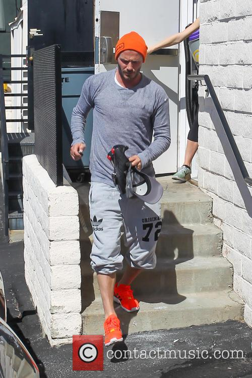 David Beckham Leaves SoulCycle Gym