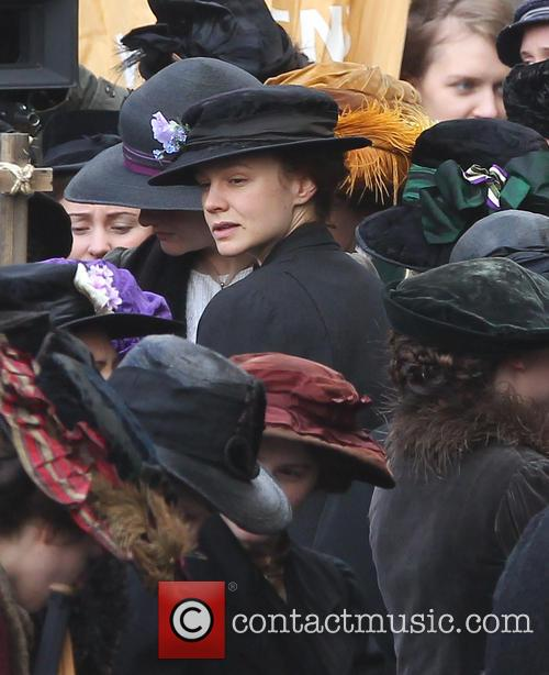 Filming takes place for the movie 'Suffragette'