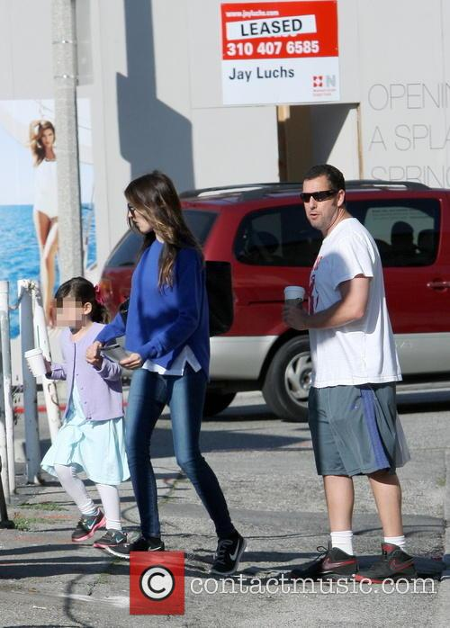 Adam Sandler out with his family