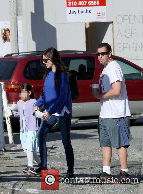 Adam Sandler, Sadie Sandler and Jackie Sandler 3