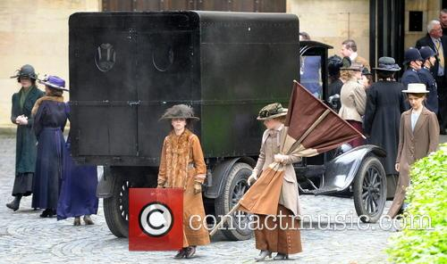 Filming of 'The Suffregettes' at Parliament