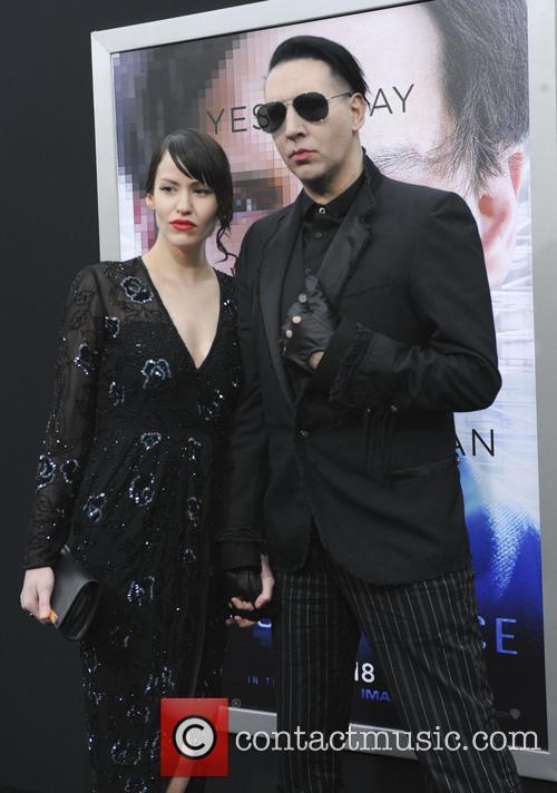 Lindsay Usich and Marilyn Manson 3