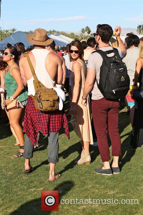 Ashley Greene Plays with boyfriend at Coachella 2014