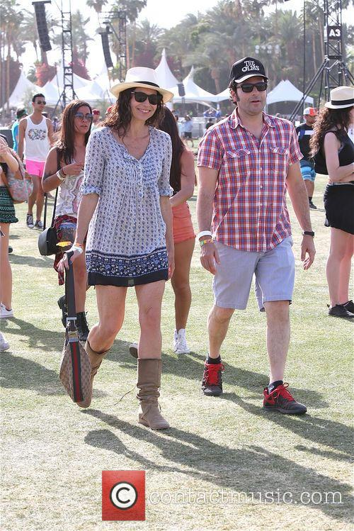 Minnie Driver enjoys day 2 Coachella with friend