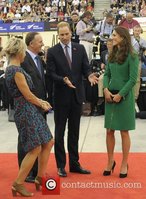 Prince William, Catherine Duchess Of Cambridge and John Key 2