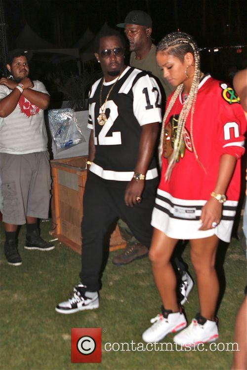 P Diddy enjoys Coachella with friends