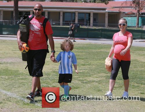 Hank Baskett, Hank Basket Iv and Kendra Wilkinson 2