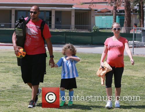 Hank Baskett, Hank Basket Iv and Kendra Wilkinson 1
