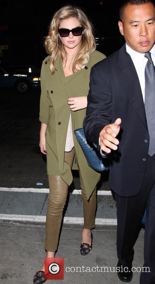 Kate Upton arrives at Los Angeles International (LAX)...
