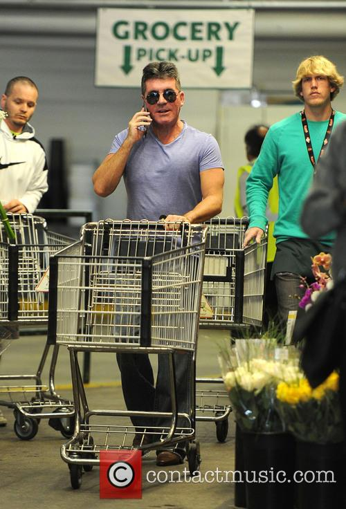 Simon Cowell shops for groceries