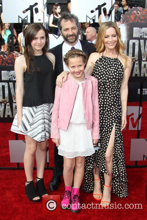 Leslie Mann, Judd Apatow and Kids 3