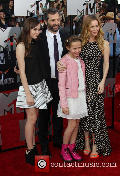 Leslie Mann, Judd Apatow and Kids 4