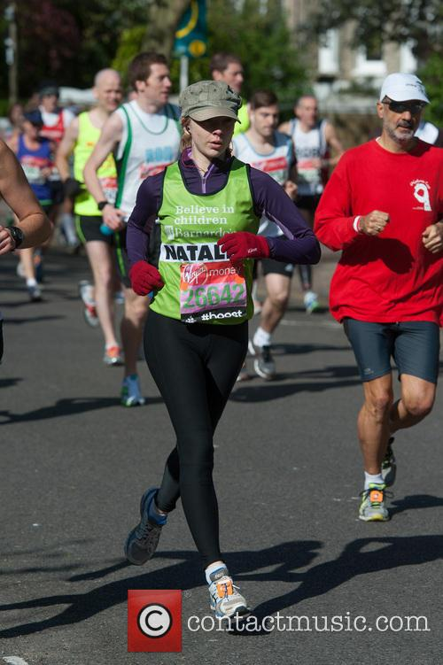 natalie dormer virgin london marathon celebrities 4153167