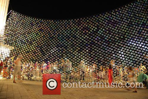 Mirror Culture CD Art Installation in Varga