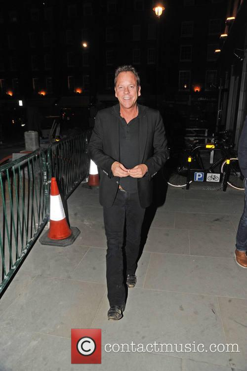 Kiefer Sutherland At Chiltern Fire Station