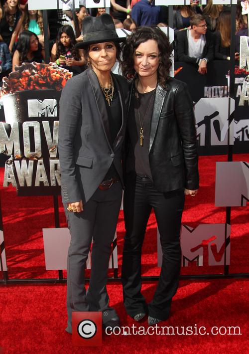Linda Perry and Sara Gilbert 6