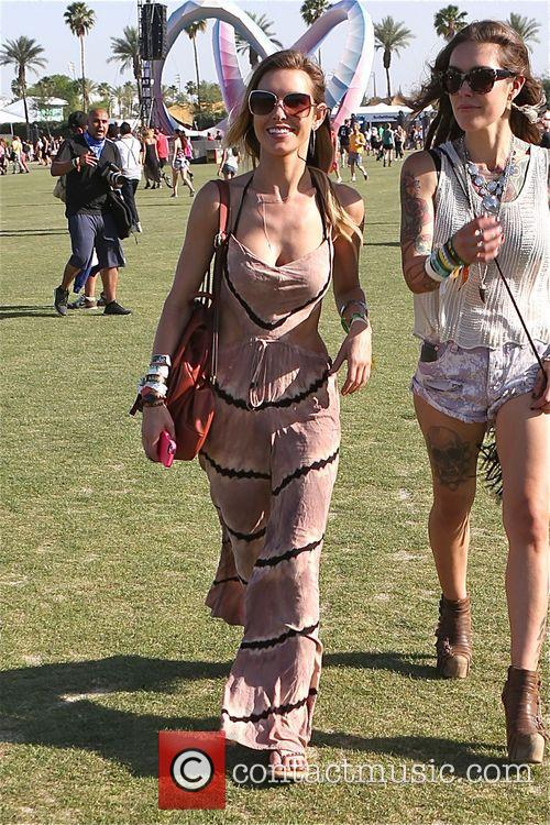 Audrina Patridge enjoys Day 3 of Coachella with...
