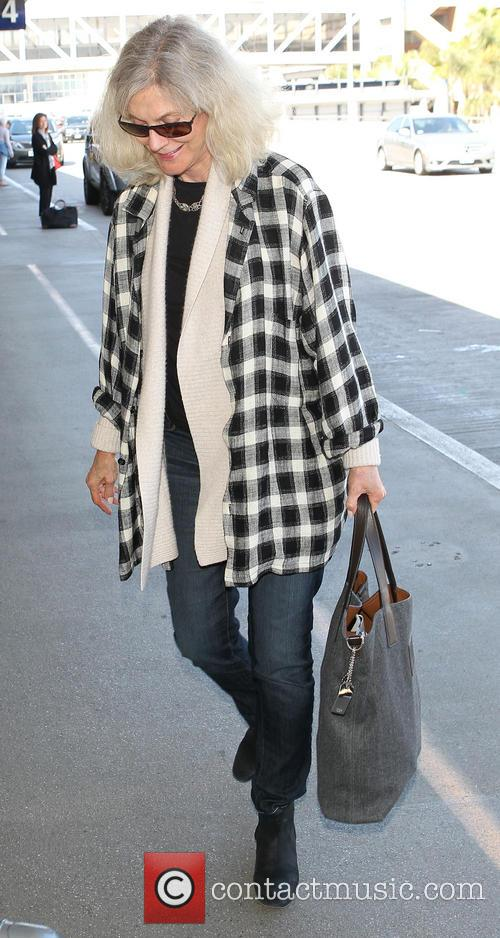 Blythe Danner arrives at Los Angeles International (LAX)...