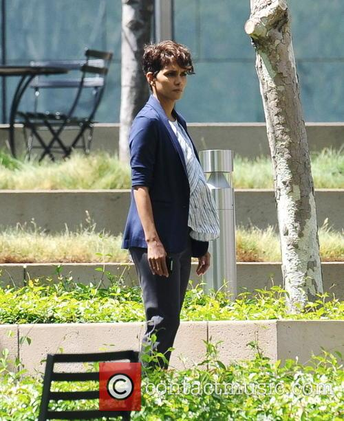 Halle Berry filming