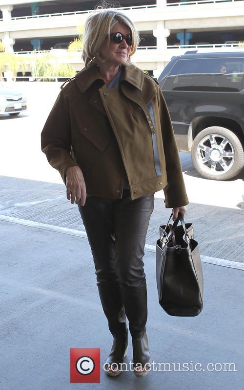 Martha Stewart arrives at Los Angeles International (LAX)...