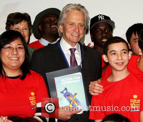 Michael Douglas book launch at the United Nations...
