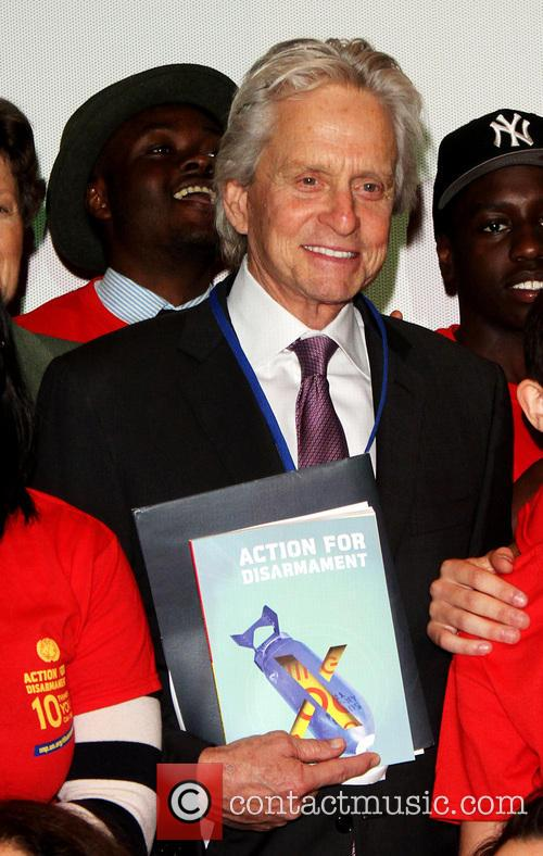 Michael Douglas book launch at the United Nations Headquarters