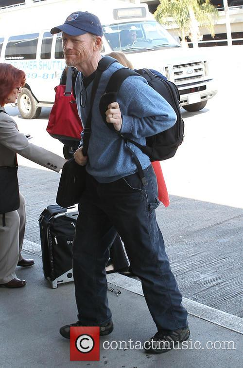 Ron Howard arrives at Los Angeles International (LAX)...