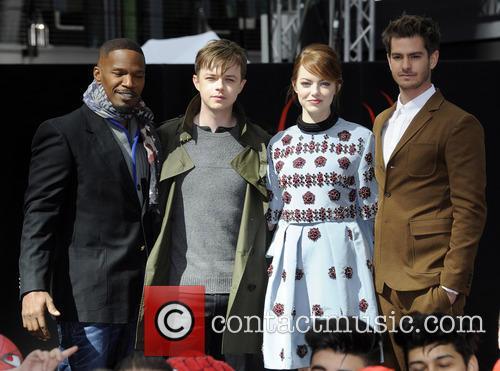 Jamie Foxx, Dane Dehaan, Emma Stone and Andrew Garfield 6
