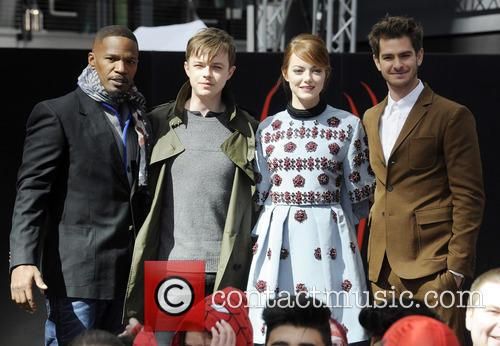 Jamie Foxx, Dane Dehaan, Emma Stone and Andrew Garfield 7