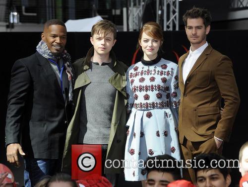 Jamie Foxx, Dane Dehaan, Emma Stone and Andrew Garfield 9