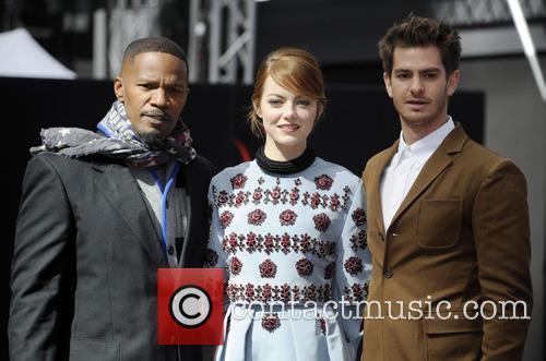 Jamie Foxx, Emma Stone and Andrew Garfield 2