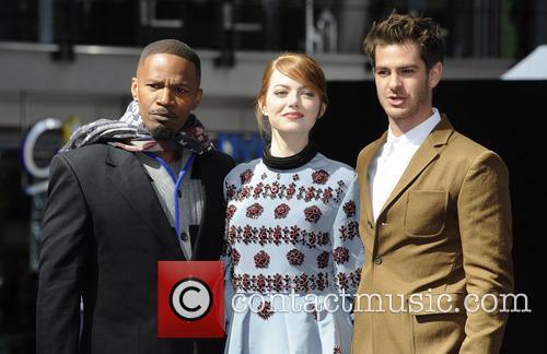 Jamie Foxx, Emma Stone and Andrew Garfield 3