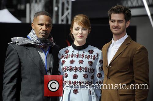 Jamie Foxx, Emma Stone and Andrew Garfield 4