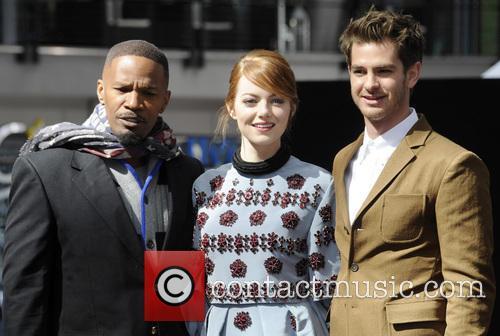 Jamie Foxx, Emma Stone and Andrew Garfield 5