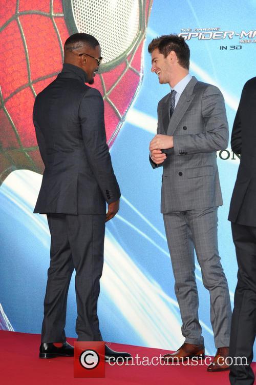 Jamie Foxx and Andrew Garfield 1
