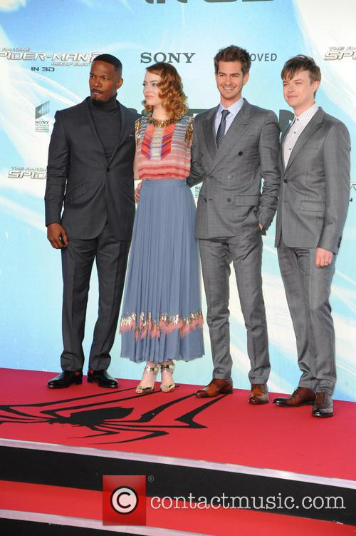 Jamie Foxx, Emma Stone, Andrew Garfield and Dane Dehaan 9