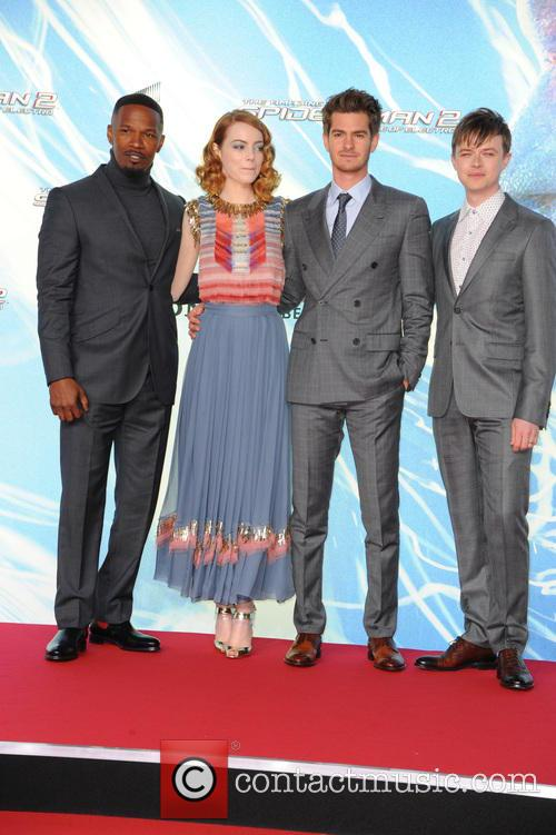Jamie Foxx, Emma Stone, Andrew Garfield and Dane Dehaan 10