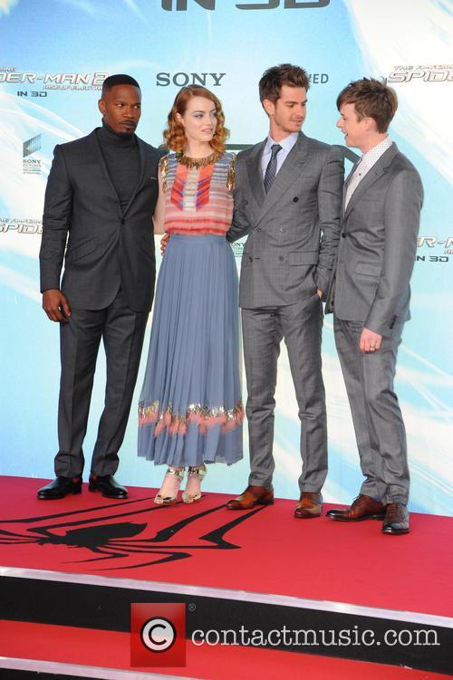 Jamie Foxx, Emma Stone, Andrew Garfield and Dane DeHaan 1