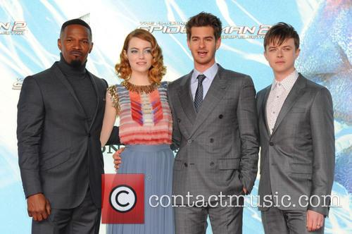 Jamie Foxx, Emma Stone, Andrew Garfield and Dane DeHaan 4