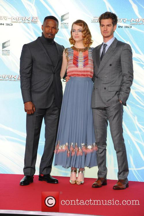 Jamie Foxx, Emma Stone and Andrew Garfield 11