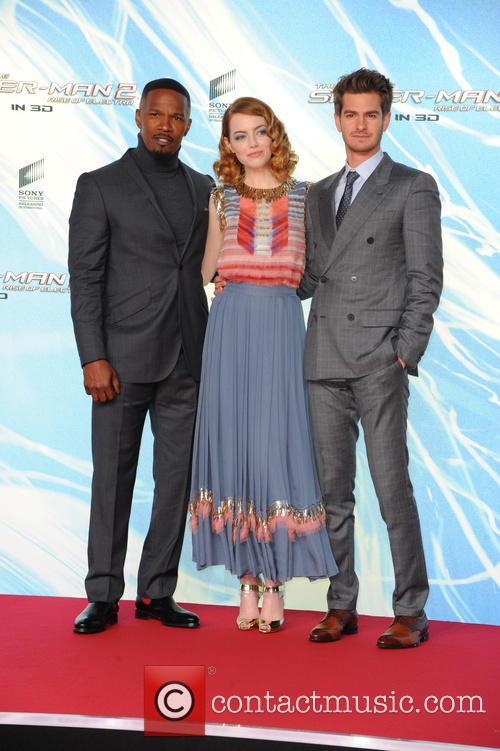 Jamie Foxx, Emma Stone, Andrew Garfield, Sony Center