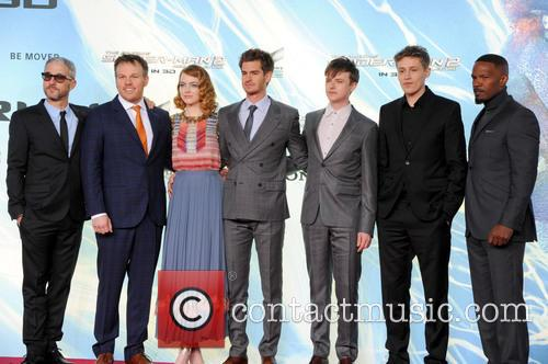 Matt Tolmach, Marc Webb, Emma Stone, Andrew Garfield, Dane Dehaan, Tim Bendzko and Jamie Foxx 6