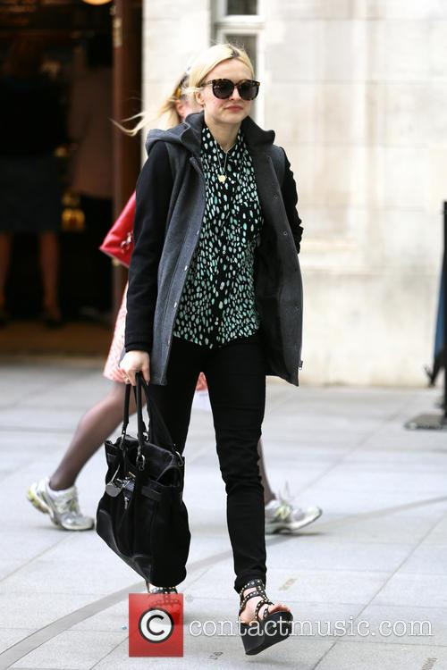 Fearne arrives for work